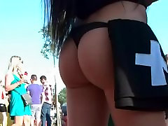 promotion girls with tight asses in festival