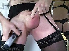Trim shave cock wear lingerie garter handmade sexual stocking bra