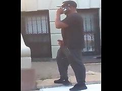 Black teen Ujeti Jerking Off na Ulici