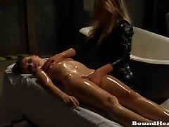 Slave On Her Kness Spanked And Tied Up