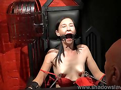 Restrained milf Lolanis amateur drunk kencing and tied tit tortures o