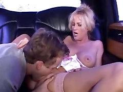 Blonde nice girls 29 milf in stockings fucks in a threesome MC