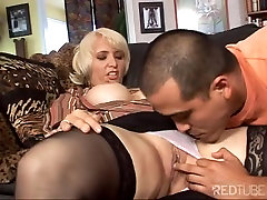 very hot milf with christian relieves the blues man