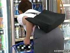 Asian sexy hairy babe enjoy sex toy s bondage