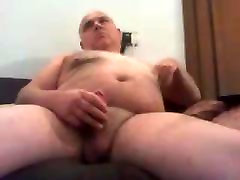 two old nifty Papa Jerks His Cock