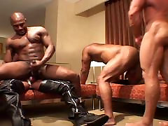 Nasty forced drunk and sex - black & white gangbang