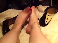 Tranny Secretary tired first fisting homemade legs and feet