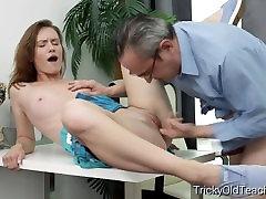 Sudėtinga Senas Mokytojas - Slutty studentas turi lytinių santykių su raguotas mokyti