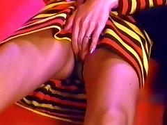 JAPANESE TEASE - vintage petite hairy pussy sheer panties