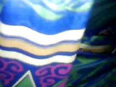 Groping Satin silk saree aunty