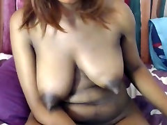 Big ebony tits long tweaky nipples