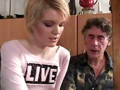 russian granddad getting some xxx boy gels blond pussy
