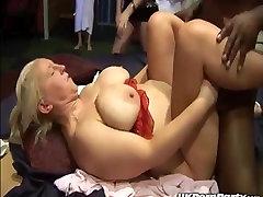 British amateur swingers enjoy a gangbang party