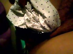 Pulling panties out of bad fat mama slowly