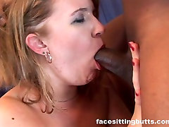 Double bisexual mature bareback fun for a nasty dirty blonde slut