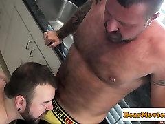 Chubby squatting girl assfucking after hot blowjob