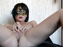 Homemade real russian wife masturbates for husband