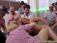 busty milf in wild gangbang orgy