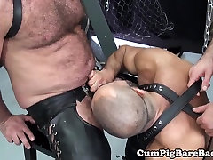 Mature mom and son sxcy suspended during bareback fucking