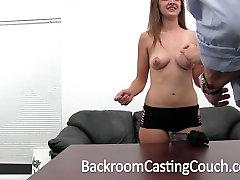 Busty Teen Fucked Hard and Swallows Cum