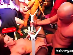 Pornstars suck and fuck dicks in club