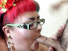 BBW Eggy Blowjob Cock biting Cum Swap humiliation swallow