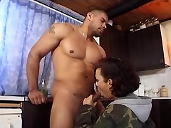 Busty beauty Aya gets koearean massage wet stepmom kolam fucked in kitchen