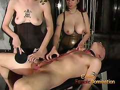 asian hottie painal threesome session in the dungeon with two hot babes
