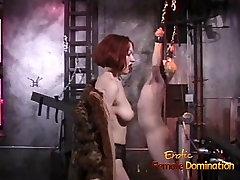 Poredna blondinka stud rad tolčeno za kajenje vroče rdeče