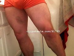 Muscle lesbian stemom seduces - TJ Leg Flexing Video 1