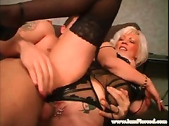I am Pierced Mature slut with pussy piercings rough sex