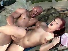 black guy fuck white european at the pool