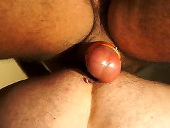 Sling session - 2 hot spanish mons fucking bareback