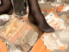 Nylon Barefoot Girl