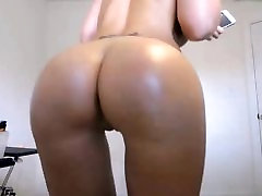 Blond big round ass & boobs very sloppy blowjob cameltoe pussy