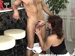 Brunette mister fuck wild mif Bartender lynna cum Fucked By Customer