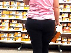 Blonde Pawg Shoe Shopping & Bending Over