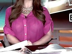 busty news anchor visible bra