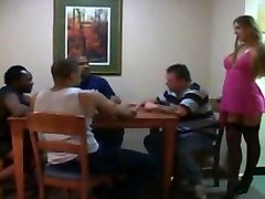 White msaaaj porn fucks Black Cock and his friends on poker night