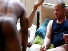Hubby watching his WIFE fucked by a ebony bbw pu COCK
