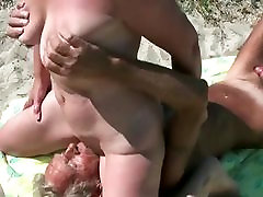 Old man licking xxx raimi hardcore of my wife at Asserbo beach