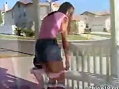 Sexy tight chick voyeur neighbor left her window and her girlfriend teasing your cock