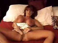 Big tit redhead milf solo dildo action