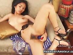 Nude kitty six saxy files plays with huge dildo part1