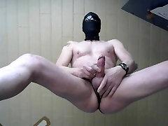 cumshot from my bondage dick handsfree