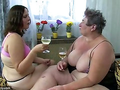 Two fat lesbian, four matures fucking