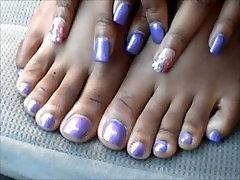 Hood Chick Purple Feet