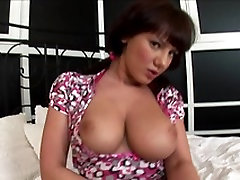 Big breasted young brunette gives blowjob just before getting fucked