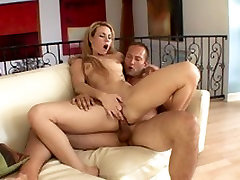 Filthy blond whore enjoys getting her arse rammed with cock and dildo outside
