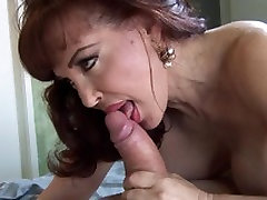 Busty dirty mature gets a very thick cock up her mouth and pussy